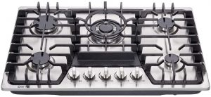 Gas Stove With Knobs On Top